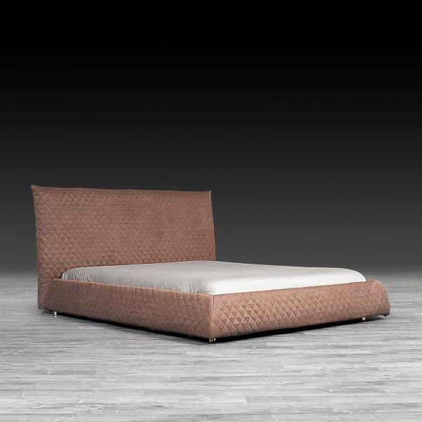 Elisse Modern Brown Bed Quilted Headboard Bed Headboards For Beds