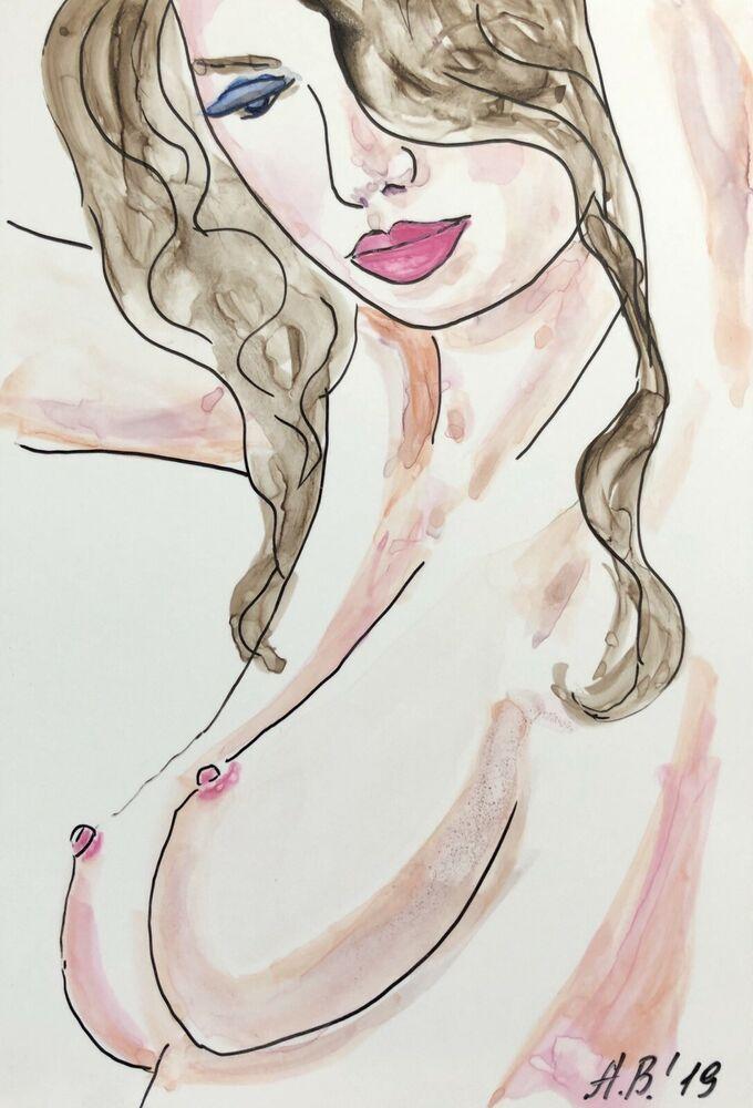 Aktmalerei Von Natasa Brglez Auf Acrylics Zeichnungen Fotopapier