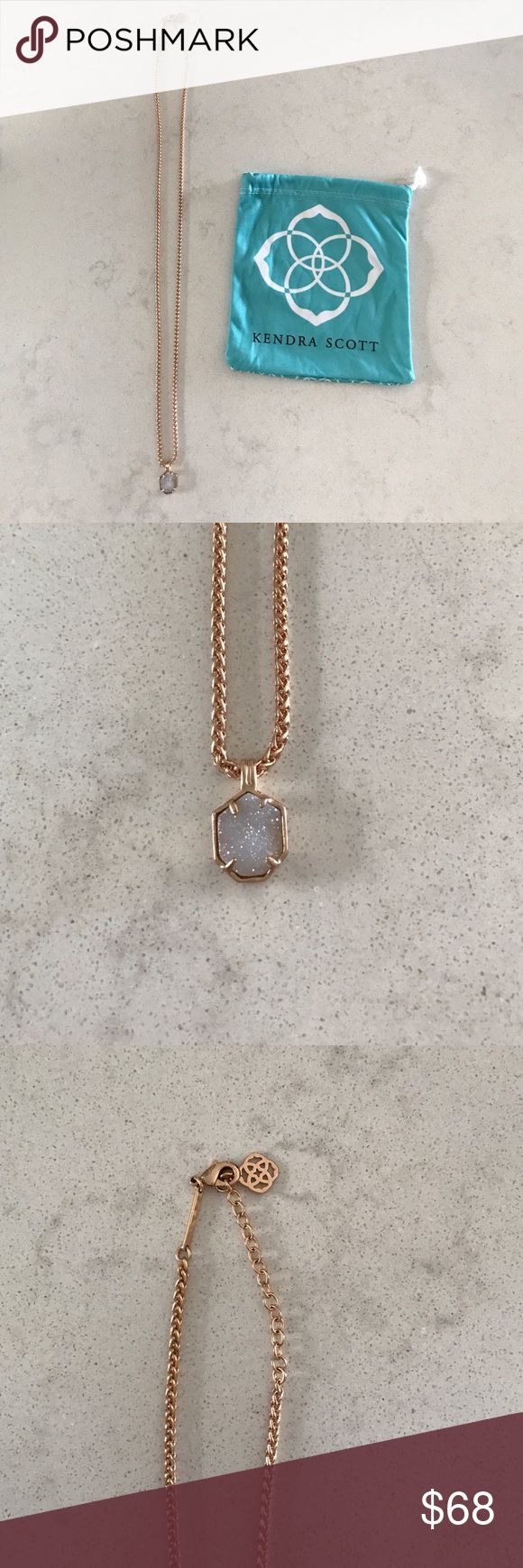 Kendra Scott Rose Gold and Druzy Oliver Necklace Kendra Scott Rose Gold and Druzy Oliver Necklace - Never worn. Brand new without tags. Comes with Kendra Scott Dustbag. Kendra Scott Jewelry Necklaces