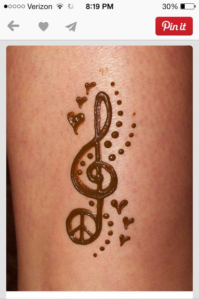 music note henna