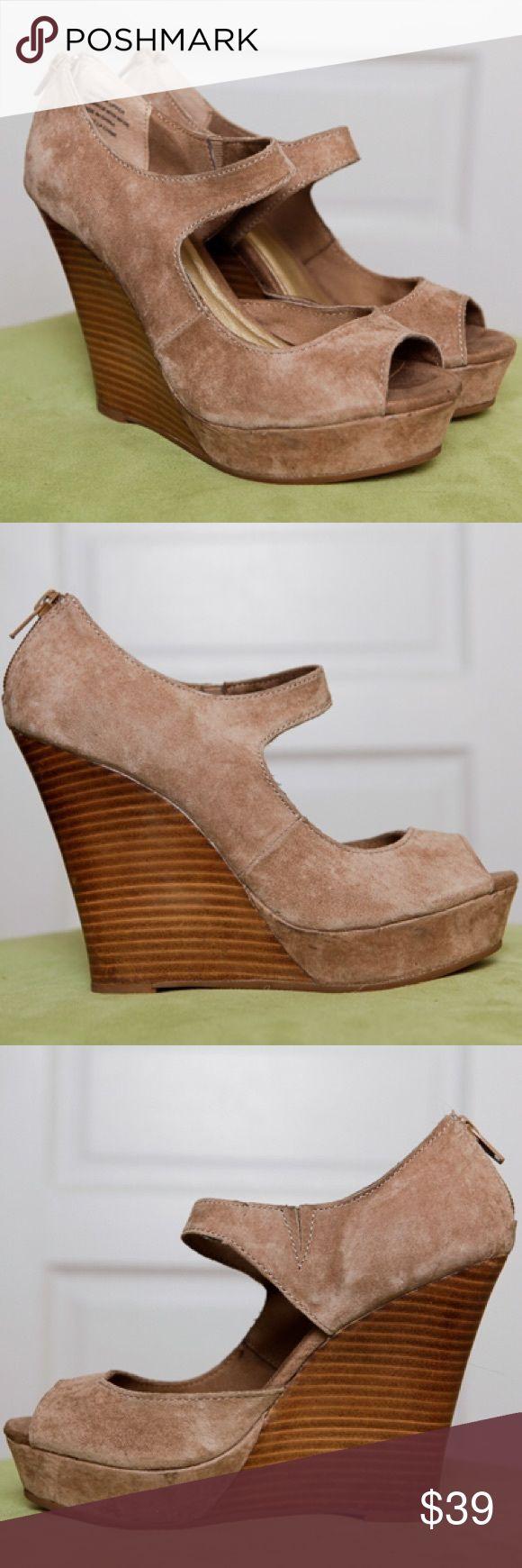 Seychelles Suede Wedges Seychelles Suede Tan Wedges. NWOT. Size 6. Seychelles Shoes Wedges