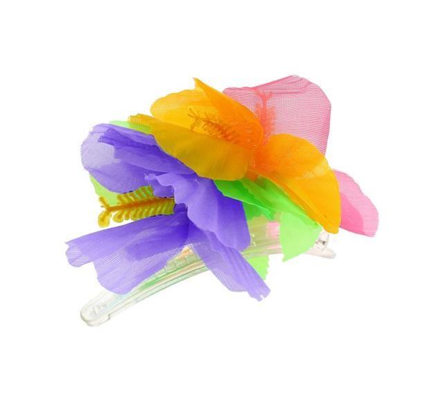 Przypinka hawajska -fioletowy, różowy, pomarańczowy.   Przypinki do włosów są świetnym pomysłem. Wcale nie musisz korzystać z usług fryzjera, aby stworzyć niepowtarzalną fryzurę. Rozpuść włosy, lub delikatnie je upnij, dodaj przypinkę w hawajskim stylu i gotowe- wyglądasz niesamowicie! :)