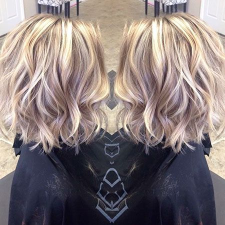 30 Popular Short Blonde Hairstyles: #2. Wavy Hairstyle; #shorthair; #blonde; #bl…