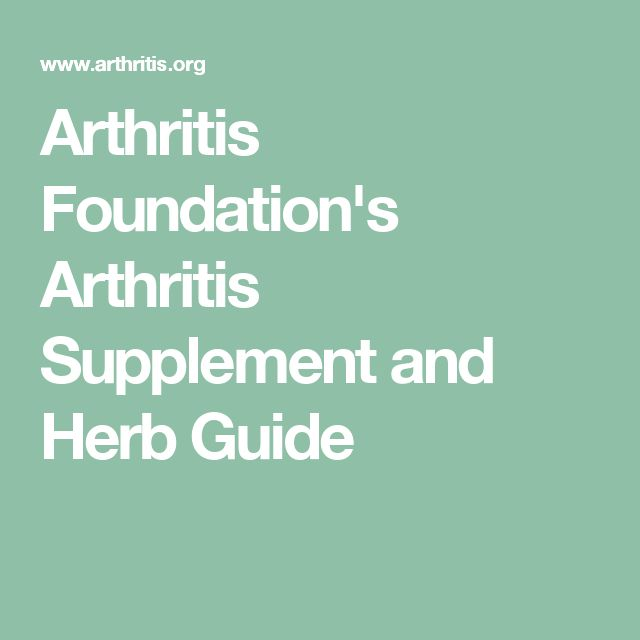 Arthritis Foundation's Arthritis Supplement and Herb Guide