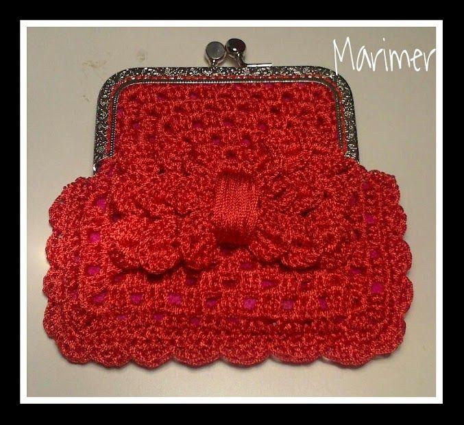 Monedero boquilla ganchillo crochet bags purses coin for Monedero ganchillo boquilla ovalada