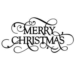 Silhouette Design Store - View Design #111586: flourish phrase - merry christmas