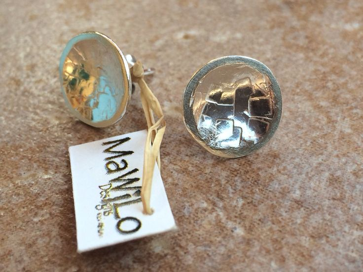 MaWiLo Designs Sterling silver round earrings mawilo.designs@gmail.com