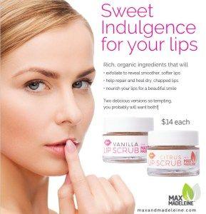 lip scrub, max & madeleine, direct sales