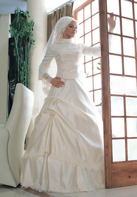 Robe mariage avec voile islamique