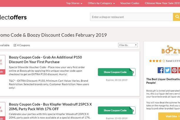 Boozy Promo Code   collectoffers   Coding, Voucher code, Philippines