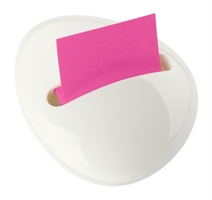 Post It Note Pebble Dispenser. Love it in white.