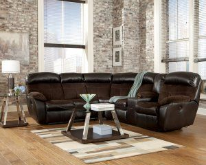 Berneen Coffee Brown Power Reclining Console Sectional by Ashley Furniture Reviews