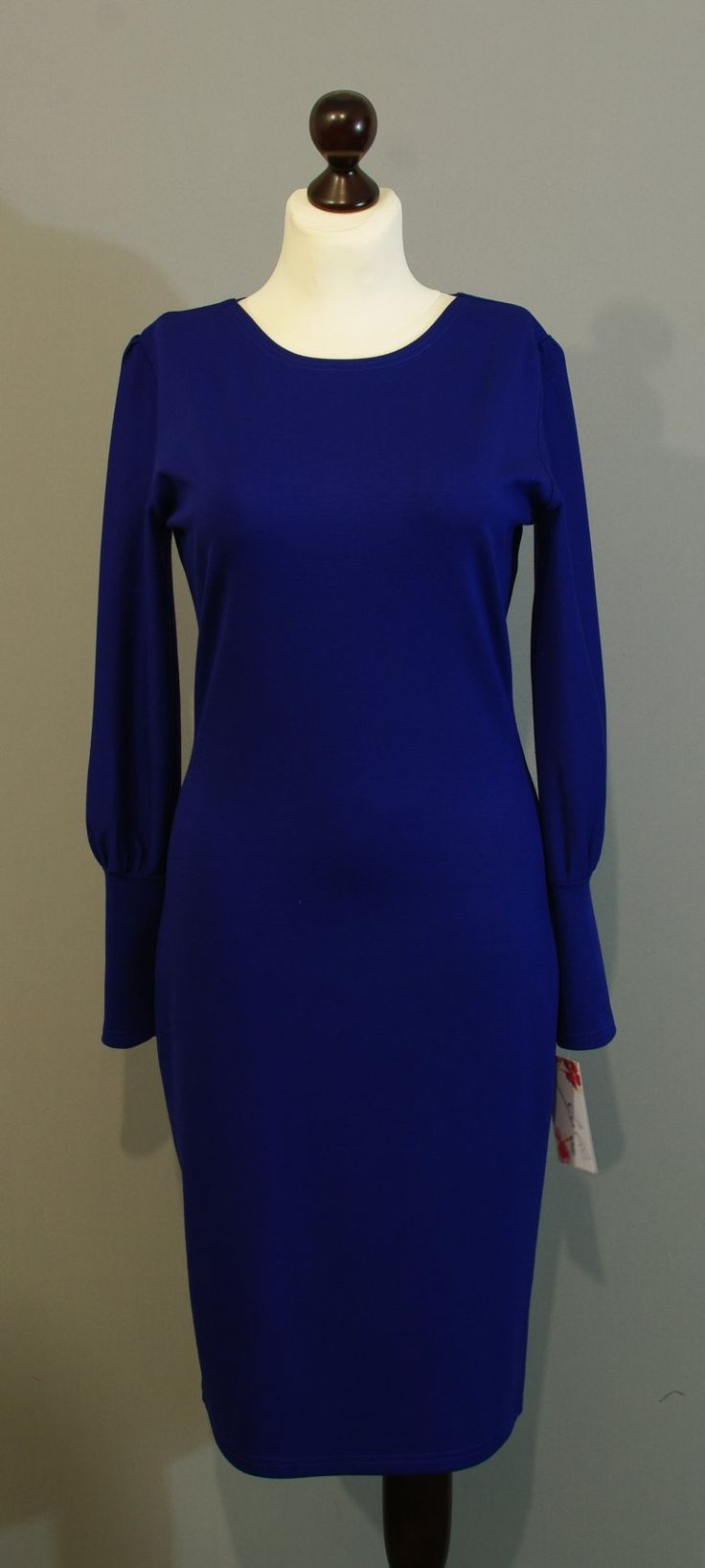 Теплое платье цвета индиго от дизайнера Юлии, Платье-терапия Киев (31)