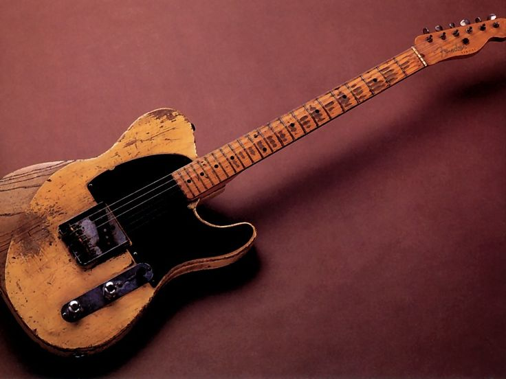 Jeff Beck's fabulously beaten up Fender Esquire, of Yardbirds fame.  Abused with loving precision..