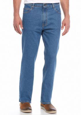 Saddlebred Men's Five-Pocket Straight Comfort Stretch Jeans - Blue - 36 X 34