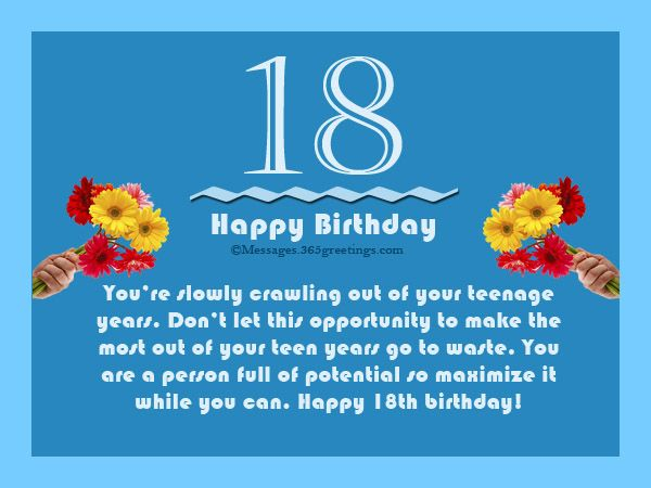 18th Birthday Wishes, Messages and Greetings | Birthday ...
