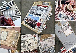 "12"" x 8"" scrapbook travel album using the Teresa Collins Memorabilia... | CHerInspirations | Bloglovin'"