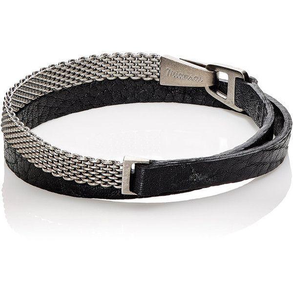 Miansai Men's Moore Double-Wrap Bracelet (610 BRL) ❤ liked on Polyvore featuring men's fashion, men's jewelry, men's bracelets, black, mens engraved bracelets, mens watches jewelry, mens bracelets and men's wrap bracelet