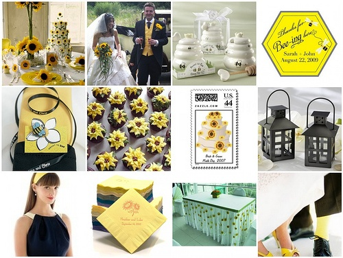 Here's another take on a sunflower wedding theme.