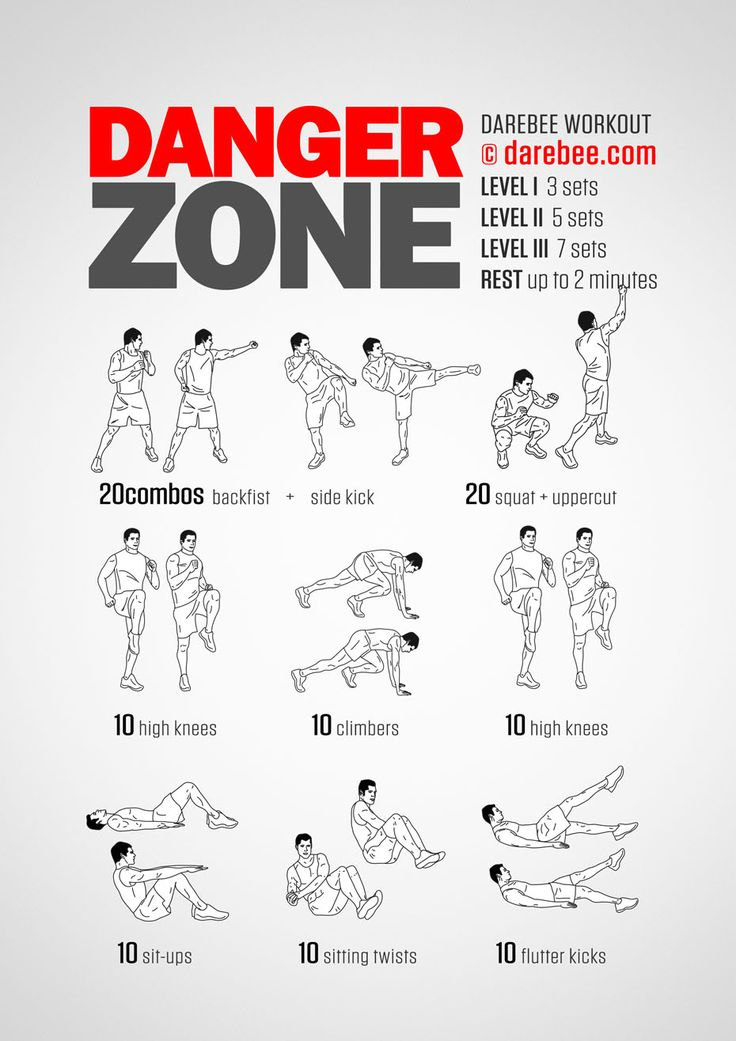 Workout of the Day: Danger Zone  #darebee #wod #workout #fitness