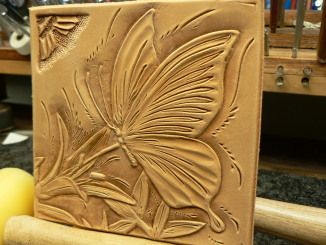 tooled leather wall art @Amanda Snelson Snelson Cross Leather new castlee de author Lawrence Carter