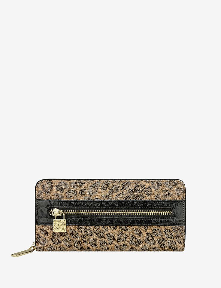 Anne Klein Cheetah Print Alligator Alley Zip Wallet | Stage Stores