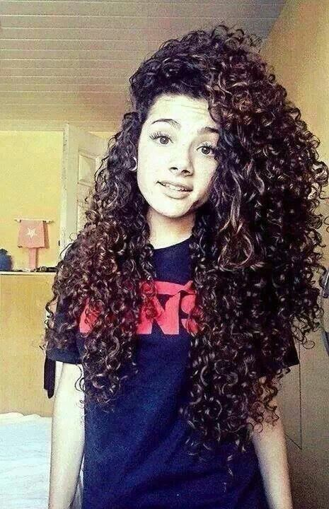 Enjoyable 1000 Ideas About Long Curly Hair On Pinterest Curly Hair Long Hairstyle Inspiration Daily Dogsangcom