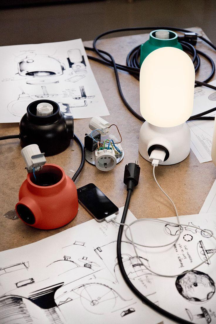 "Plug lamp. Nice and handy (""Form us with love"" / Ateljé Lyktan)"