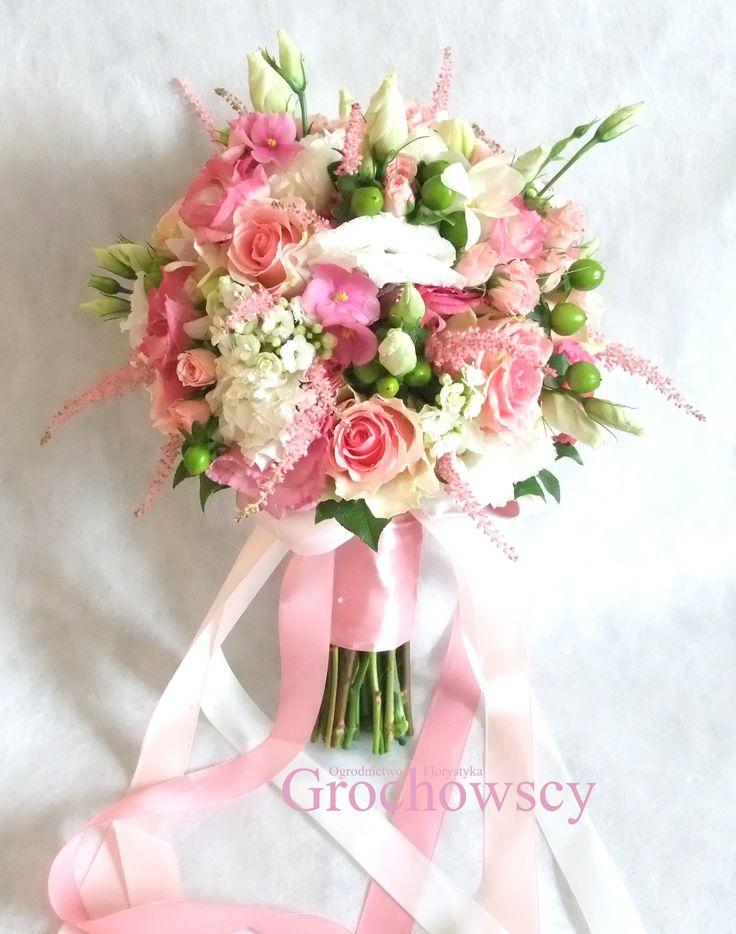 różowy bukiet ślubny Człuchów różowe róże #pinkbouquet #pinkpossy #bridalbouquet #pinkwedding #weddingbouquet #wstążki #ribbons