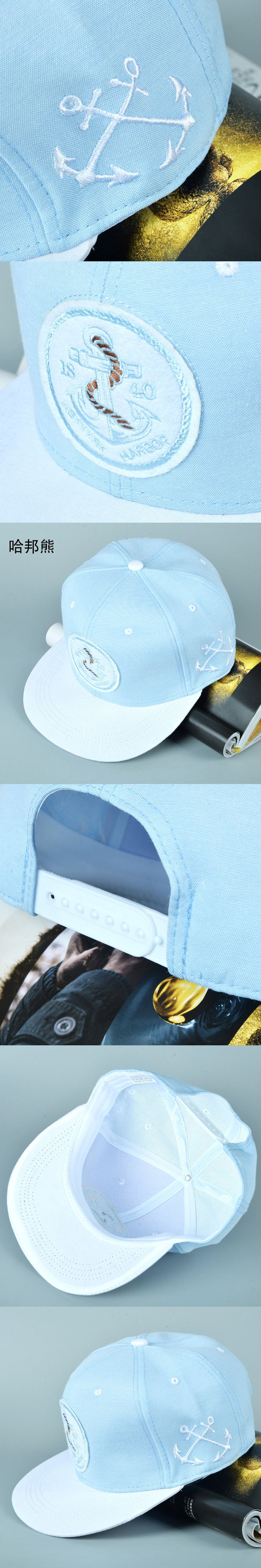 2017 anchor patch bone snapback 1840 new york harbor hiphop baseball cap fashion casquette adjustable hat gorras for women men