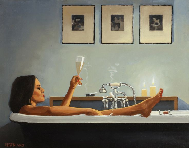 Nightime Rituals_II by Jack Vettriano.  http://www.jackvettriano.com I can so relate to this...