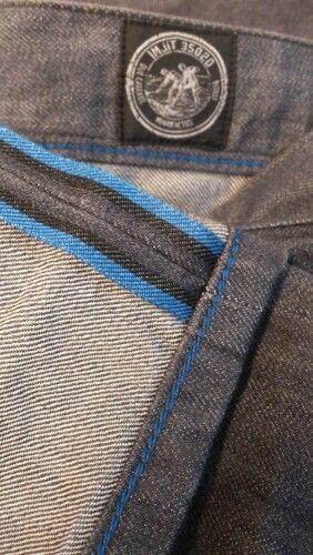 Black and blue selvedge and silk Denim.