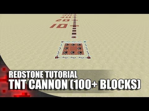 Minecraft: TNT Cannon (100+ Blocks) - YouTube
