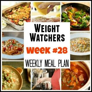 Weight Watchers Meal Plans Week #28