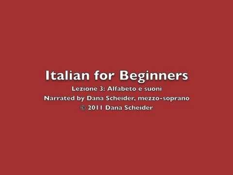 Italian for Beginners - YouTube playlist of videos on how to speak Italian by Dana Scheider, mezzo-soprano.