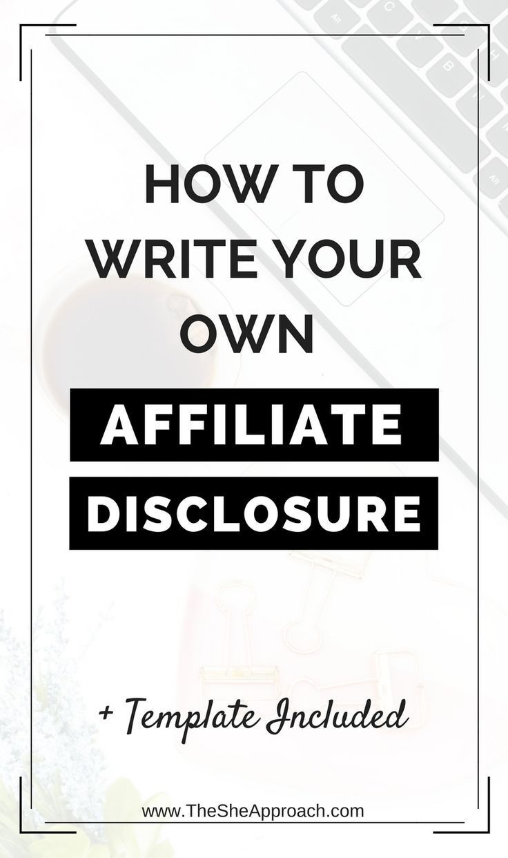 How To Properly Disclose Your Affiliate Links Free Affiliate Disclosure Template Affiliate Marketing Marketing Tips Affiliate Marketing Programs