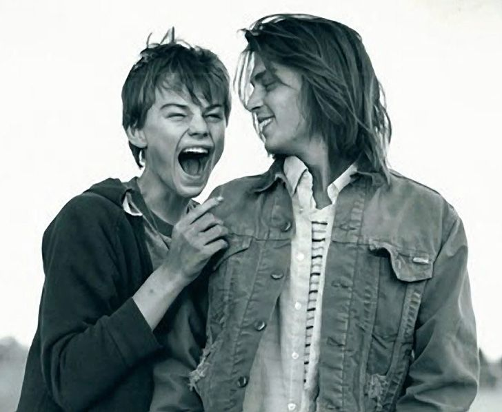 "Johnny Depp and Leonardo DiCaprio in ""What's Eating Gilbert Grape."""