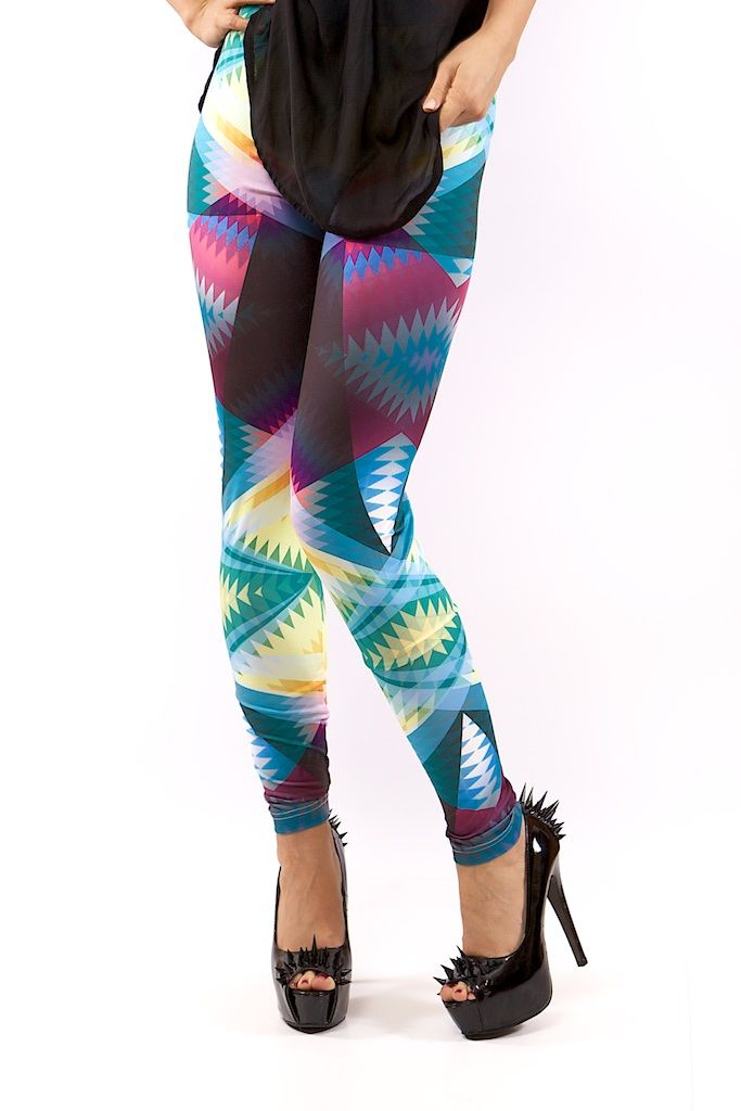 GEOMETRICA LEGGINGS FOR WOMEN – MOLEECO CLOTHING Perfectly printed leggings with the unique moleeco motives They really fit great!  Composition: 82% Polyester / 18% Spandex Garment Care: Washing Machine :) Print placement may vary. Handling Time: up to 8 working days