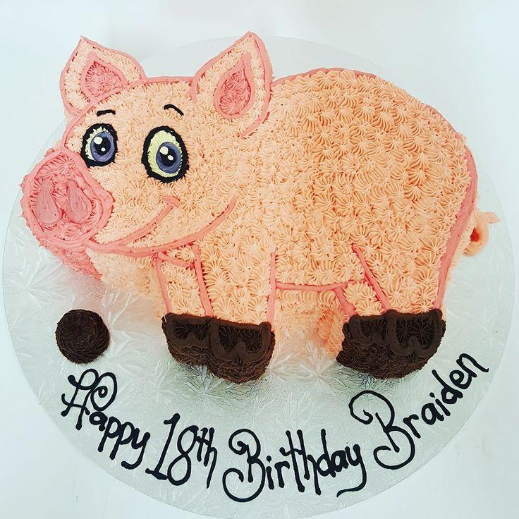 Carved Pig Cake