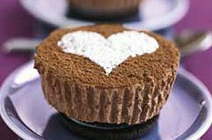 PHILADELPHIA Chocolate Cheesecakes for Two -- Make mini cheesecakes for you &