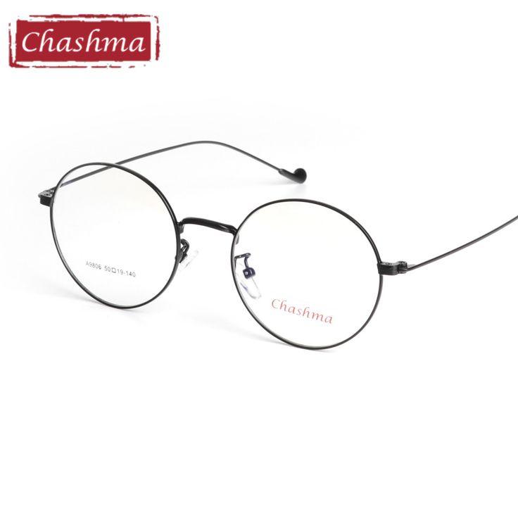 Chashma Brand Stainless Frame Vintage Eyeglasses Quality Frames Female Retro Eye Glasses Fresh Stylish Round Glasses Male #Affiliate
