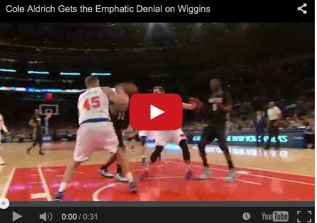 Cole Aldrich Gets the Emphatic Denial on Wiggins