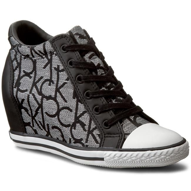 Sneakersy Calvin Klein Jeans Vero Re9643 Silver Bla Na Koturnie Polbuty Damskie Www Eobuwie Com Pl Calvin Klein Calvin Klein Jeans Sneakers
