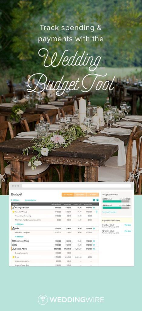 Wedding budget tool to help you on your wedding day! Great tool WeddingWire http://www.mydreamlines.com/2017/01/wedding-budget/ #weddingbudget #weddingbudgettool #weddingwire