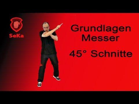 Grundlagen Messer: 45°-Schnitte
