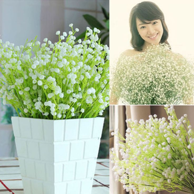 1pc Artificial Baby's Breath Gypsophila Wedding Plastic Flowers Home Decor NEW #NewLook