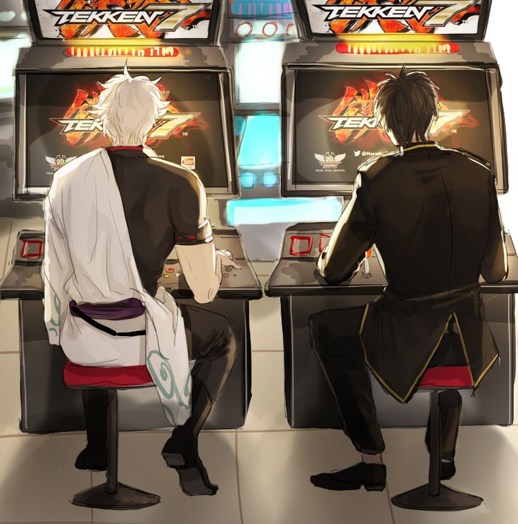 Gintama. Hijikata & Gintoki