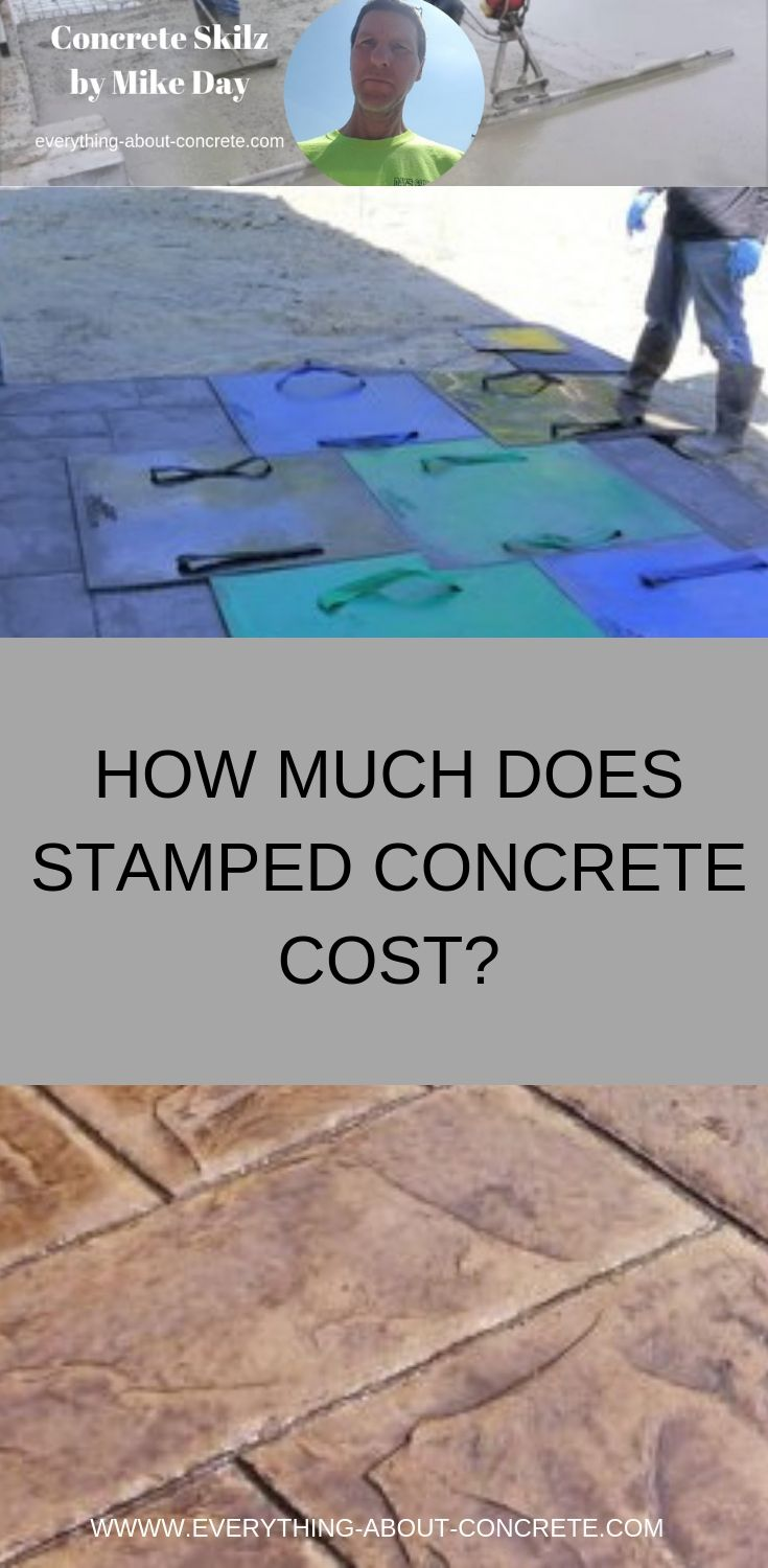 How Much Does Stamped Concrete Cost Stamped Concrete Cost Concrete Cost Concrete Patio Cost