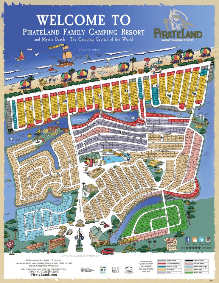 Park Map — Pirateland Family Camping Resort Camping