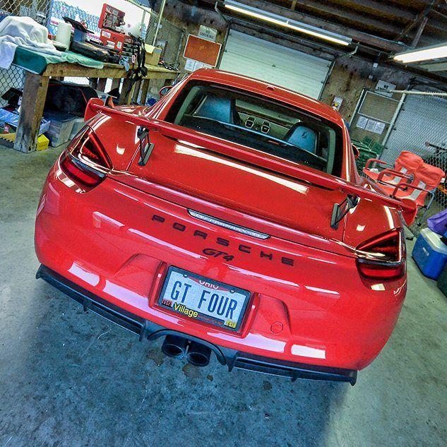 Gt4 in the garages at Mid Ohio.  http://ift.tt/2yL9ERz  #porsche #porsche911 #porschesofinstagram #cayman #caymangt4 #gt4 #carsofinstagram #racecarsofinstagram #racing